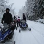 Snowmobile raid
