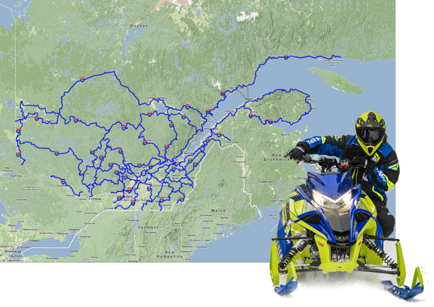 Snowmobile trails and organized tours in Sainte-Adèle on